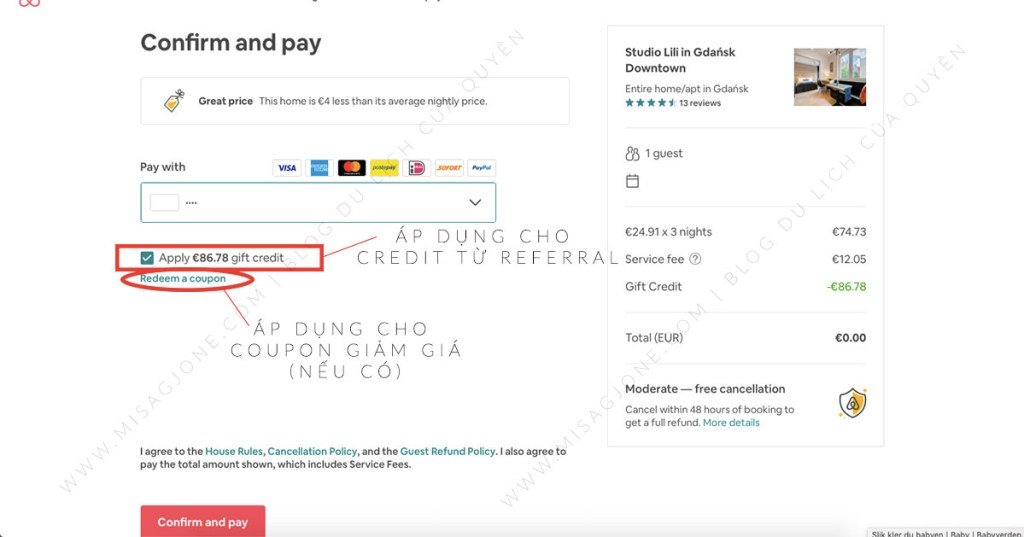 Dùng credit để book phòng Airbnb miễn phí _04