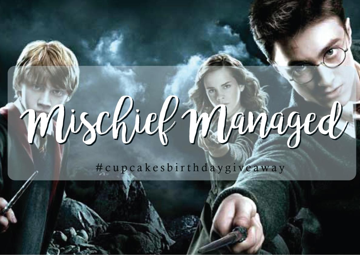 DAY TWENTY EIGHT > Mischief Managed