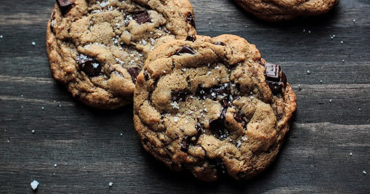 Salted Chocolate Chunk Cookies by Lisa Clark