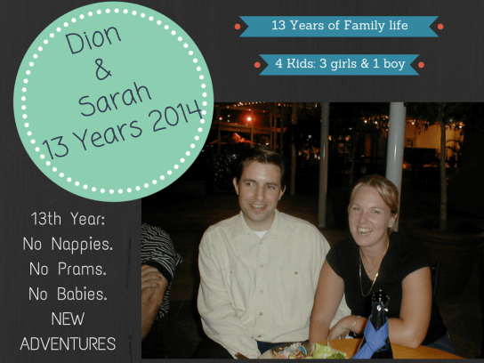 Dion and SarahMarried13 Years!-7