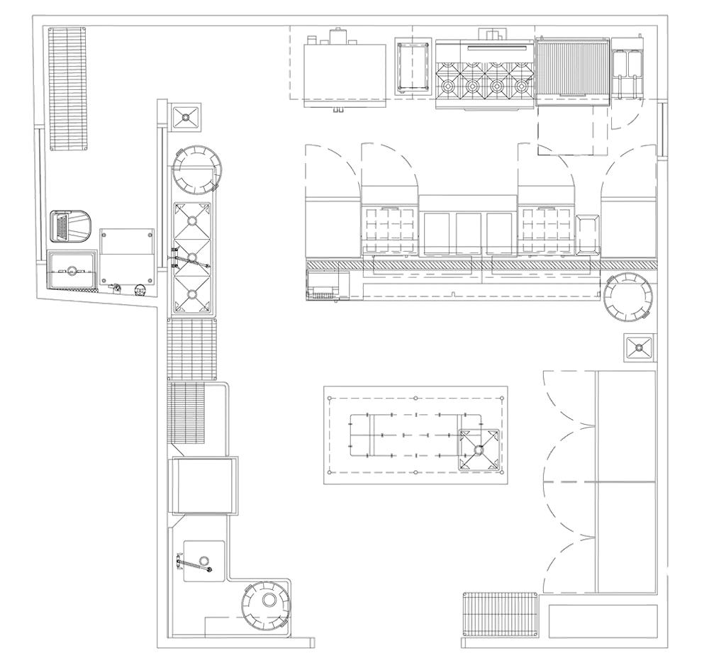 Quitos Gazebo Restaurant Project restaurant kitchen design floorplan