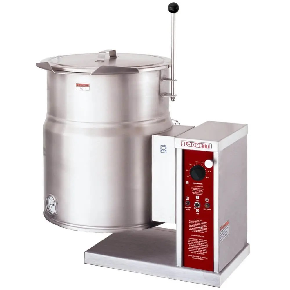 low volume commercial counter top mounted steam kettle