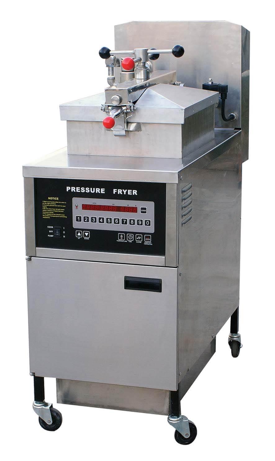 large capacity pressurized restaurant kitchen deep fat fryer