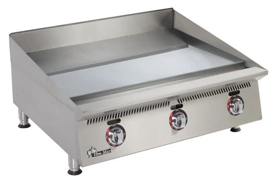 small commercial counter top restaurant kitchen griddle