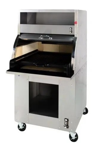 large capacity commercial charcoal restaurant kitchen charbroiler