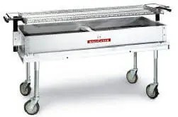 large capacity mobile outdoor charcoal fuel catering restaurant kitchen charbroiler