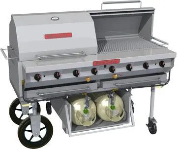 mobile outdoor large capacity catering restaurant kitchen charbroiler