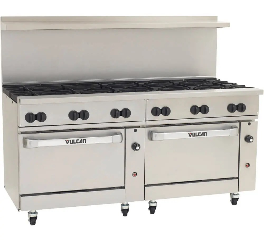 commercial twelve burner range