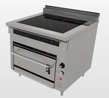 heavy duty commercial induction range
