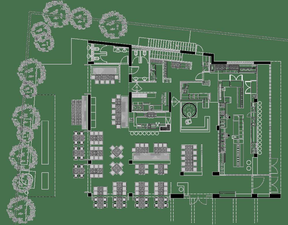 Bayrut Street Food Project restaurant kitchen design floorplan
