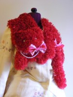 Sweet lolita red velvet kittie scarf