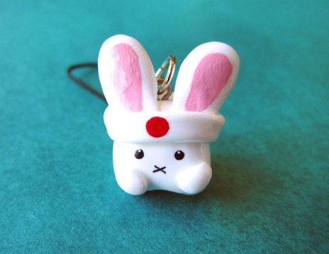 Japan Disaster Relief Bunny Cell Phone Charm