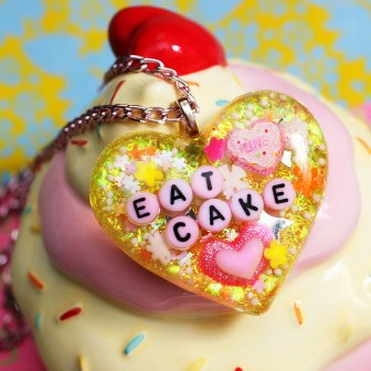 eat cake acrylic resin jewelry