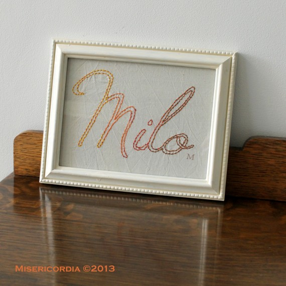 Milo - Hand Embroidery Commission by Misericordia