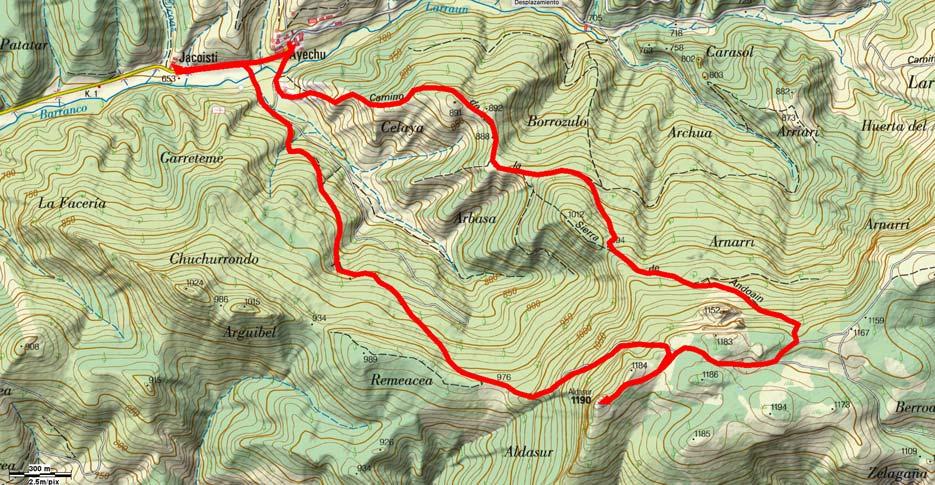 Mapa ruta 501
