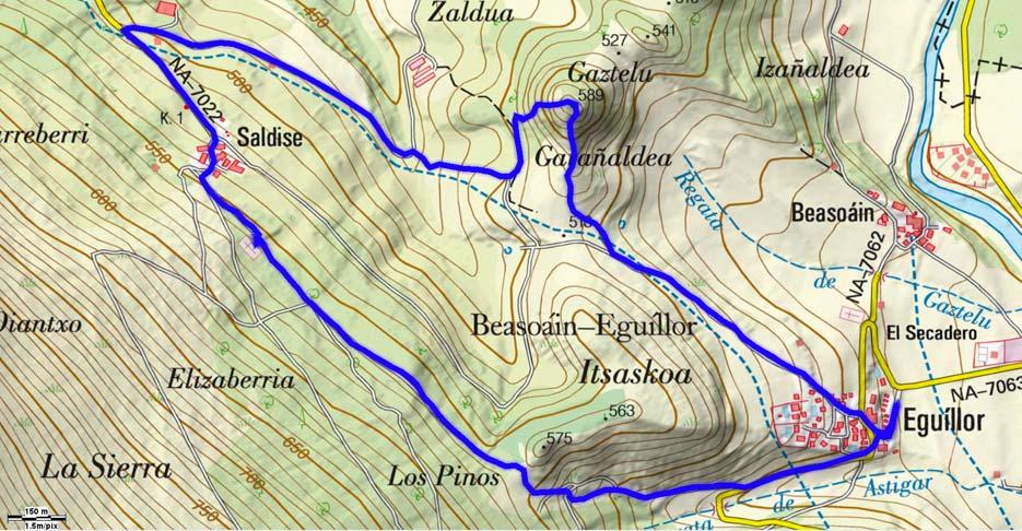 Mapa del recorrido 502