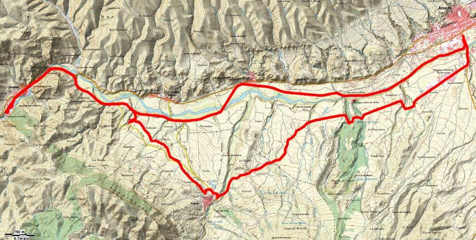 Mapa del recorrido 173btt