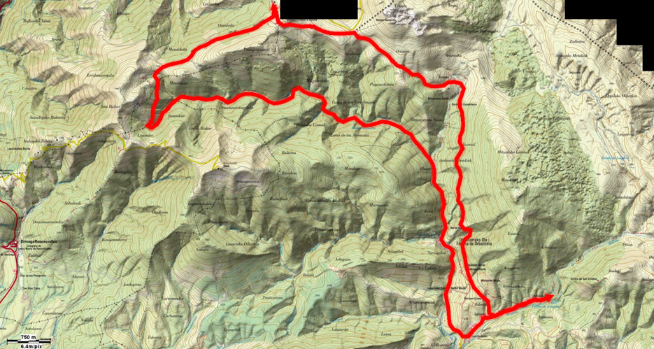 Mapa de la ruta 192btt