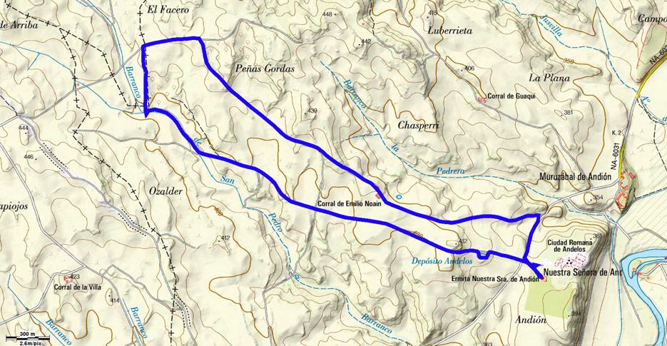 Mapa del recorrido 629