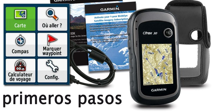 Primeros pasos con un GPS Garmin