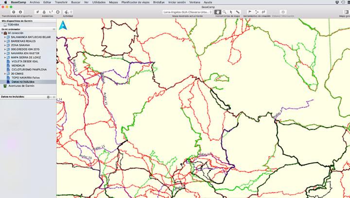Detalle mapa de tracks de Misescapadas porNavarra