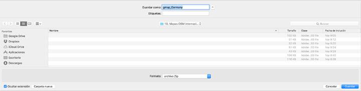Descargar ZIP de OSM