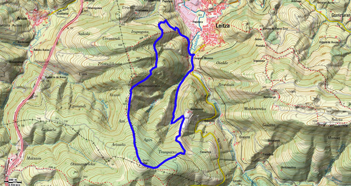 Mapa del recorrido 645