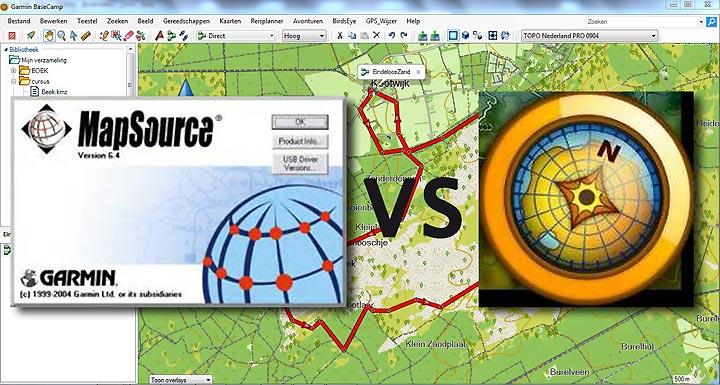Garmin mapsource versus Basecamp
