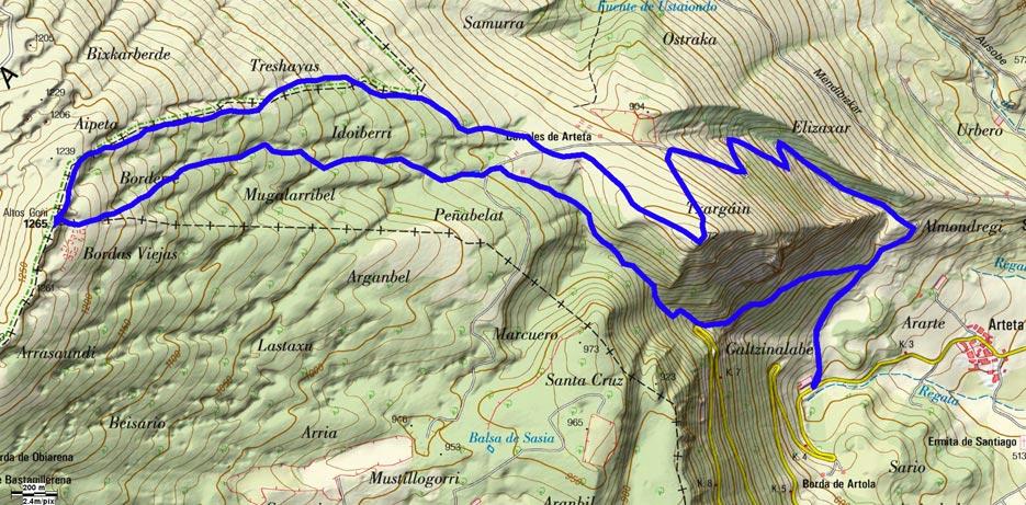 Mapa del recorrido 651