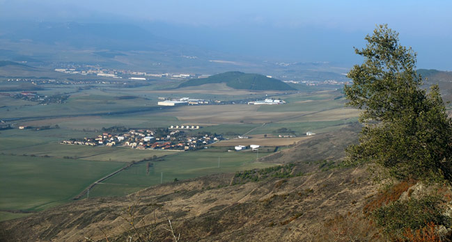 Valle de Elorz desde la Sierra de Tajonar