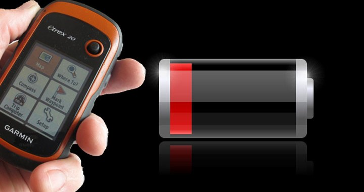 Baterías bajas en un GPS Garmin