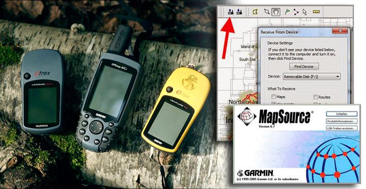 Enviar mapas a un Garmin antiguo con Mapsource