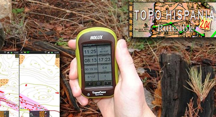TopoHispania en un GPS Twonav