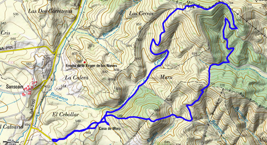 Mapa del recorrido 676