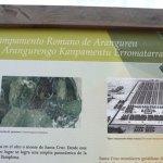 Panel informativo campamento romano de Aranguren