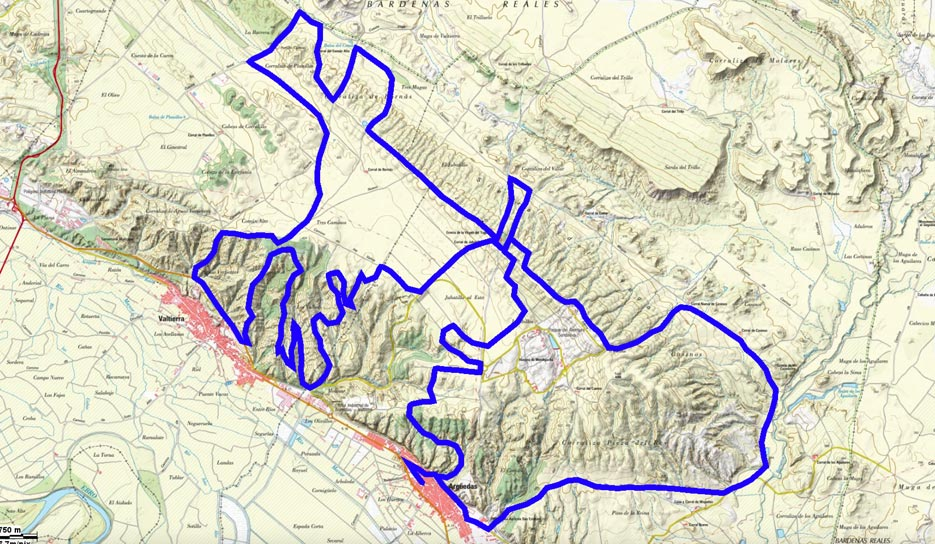 Mapa del recorrido 218BTT
