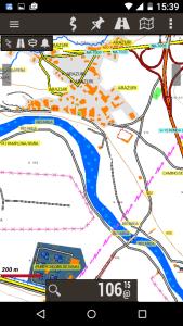 Mapa Topohispania en un movil con Oruxmaps