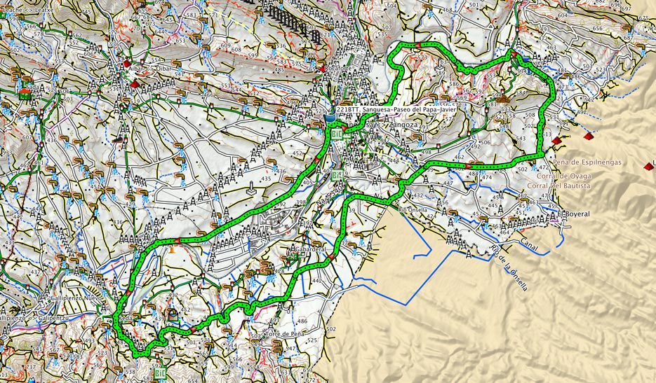 Mapa del recorrido 221BTT