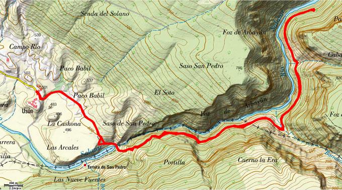 Mapa del recorrido 698