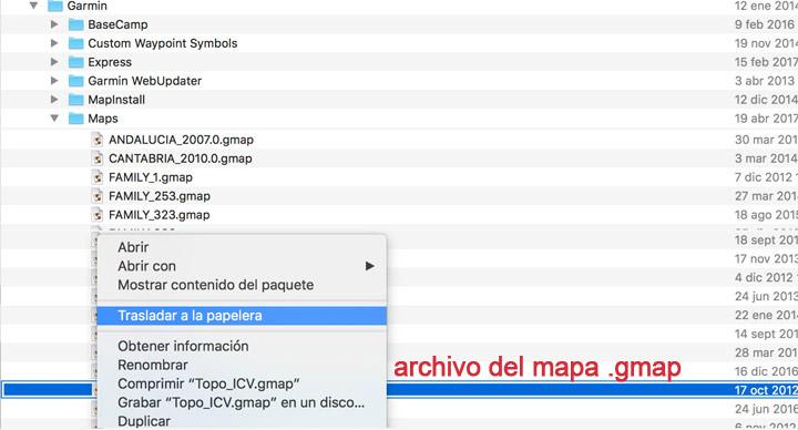 Localizar un archivo Typ en un mac