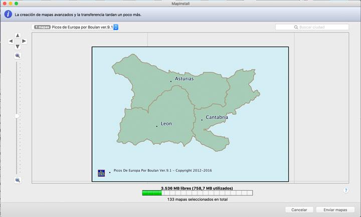 mapa Topo Picos de Europa de Boulan 9.1