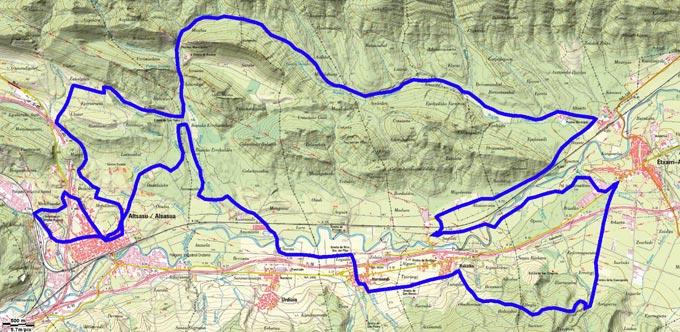 Mapa del recorrido 222btt