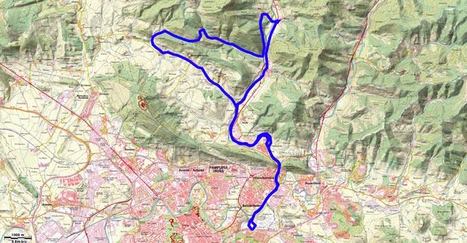 Mapa del recorrido 224BTT
