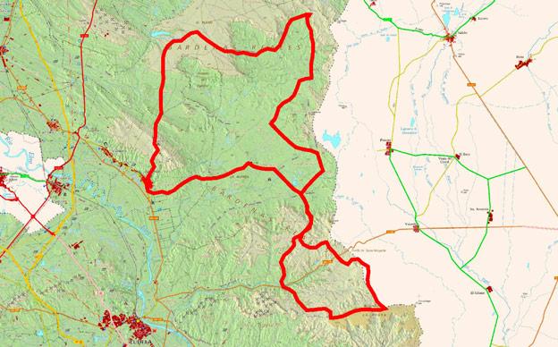 Mapa del recorrido 226BTT