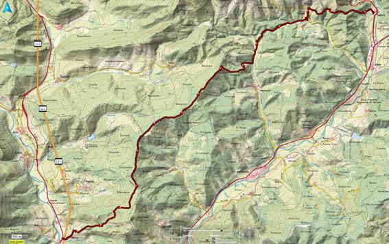 Mapa del recorrido 715