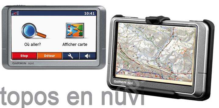 Mapas topográficos en un GPS de coche Garmin