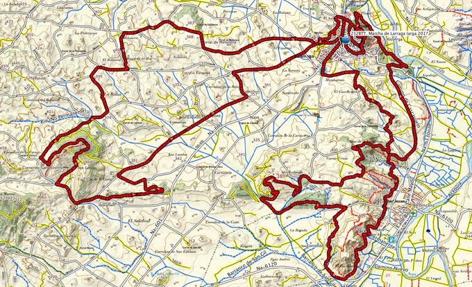 Mapa del recorrido 232BTT