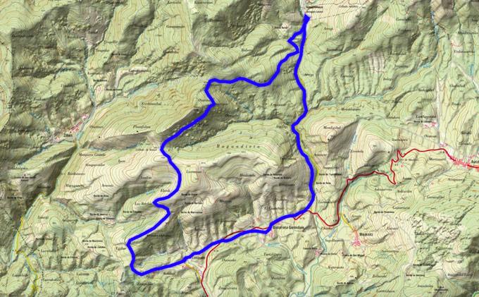 Mapa del recorrido 720