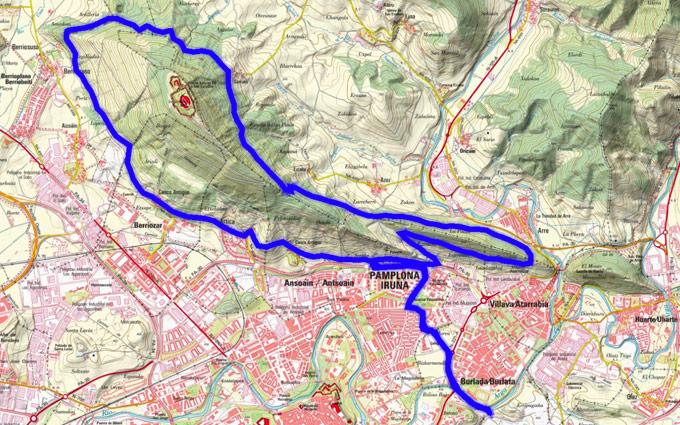 Mapa del recorrido 234BTT