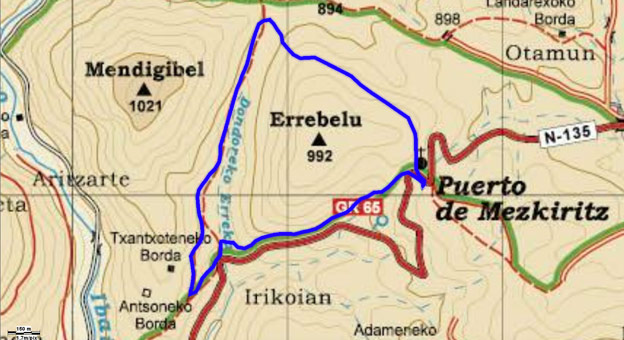 Mapa del recorrido 738